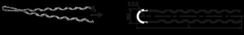 Натяжные зажимы НСО-А1-Дк- (8/13) для монтажа ОКСН с длиной пролета до 100 м
