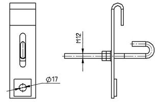 Промежуточные узлы крепления УП(У) для монтажа ОКСН и ОКГТ